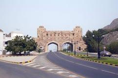 Muscat. L'Oman. Vecchi portoni della città (XVI C.) fotografia stock libera da diritti