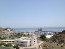 Muscat marina. Oman, Muscat city - the marble Royalty Free Stock Photo