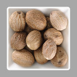 Muscat, Nutmeg in a bowl Stock Images