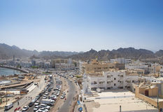 Muscat in oman. Central muscat city in oman Stock Photography