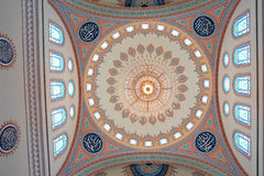 Muscat, Oman - Interior of Taymoor Mosque - Dome Royalty Free Stock Photo
