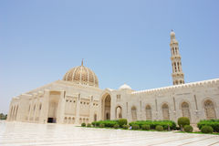 Muscat, Oman - mesquita grande de Qaboos da sultão Imagem de Stock