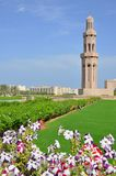 Muscat, Oman - mosquée grande de Qaboos de sultan Photographie stock