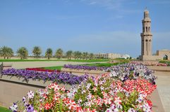 Muscat, Oman - mosquée grande de Qaboos de sultan Photographie stock libre de droits