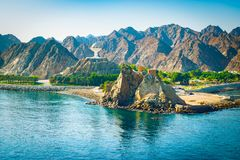 Muscat, Oman. Mountain landscape. Royalty Free Stock Photos