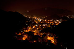 Muscat, Oman Nightscape fotografia stock libera da diritti