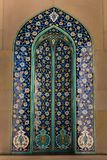 Sultan Qaboos Grand Mosque in Muscat, Oman. MUSCAT, OMAN - NOVEMBER 30, 2017: mosaic decorations with Persian Kashi design in Sultan Qaboos Grand Mosque in Stock Images