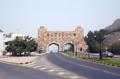 Muscat. Oman. Old city gates (XVI C.). Oman is a country in South-West Asiaи in the South-East of the Arabian Peninsula. It shares borders with Saudi Arabiaй Royalty Free Stock Photography