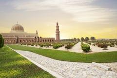 Muscat Oman, Sultan Qaboos Grand moské royaltyfri fotografi