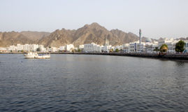 Muscat seafront. View of muscat corniche capital city of oman Stock Images