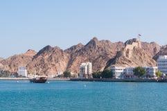 Muscateldruif Corniche, Oman Stock Foto's