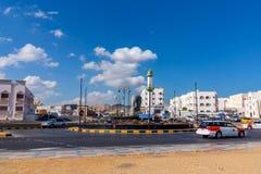 Muscateldruif, Oman - December 17, 2018: Stadsvierkant in Muscateldruif, de hoofdstad van Oman royalty-vrije stock foto's