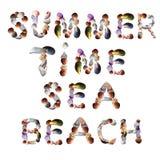 Muschelguß für Sommerferien Lizenzfreie Stockfotografie