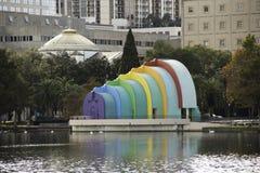Muscheloberteil Amphitheater in Orlando stockfotos