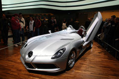 Muschio di Mercedes SLR Stirling, salone dell'automobile di Ginevra 2009 Immagine Stock