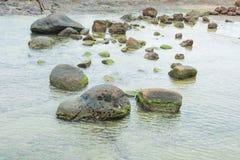 Muschio e roccia insieme Immagine Stock Libera da Diritti