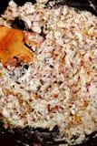 Muschrooms de la cena en salsa cremosa Imágenes de archivo libres de regalías