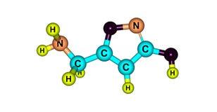Muscimol cząsteczkowa struktura odizolowywająca na bielu Zdjęcia Royalty Free