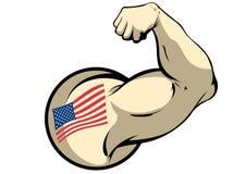 Muscle américain illustration de vecteur