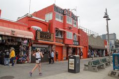Muscle Beach history museum on Venice Beach royalty free stock image