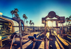 Muscle Beach in Los Angeles stock photo