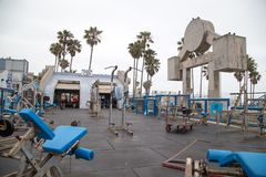 Muscle Beach outdoor gym in Venice Beach stock images