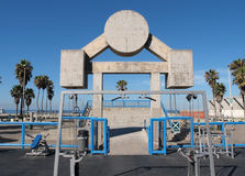 Muscle Beach Venice California. Famous Muscle Beach.  Los Angeles City Park workout facility in Venice California Stock Photos