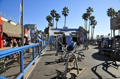 Muscle Beach. Weathered Outdoor Equipment at Muscle beach, Venice CA royalty free stock images