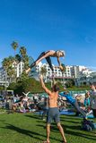 Muscle Beach Workout Royalty Free Stock Photography