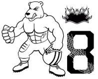 Muscle bear american football uniform Stock Photo
