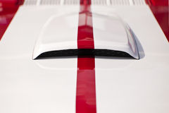 Muscle  Car. Hood of a Muscle  Car Royalty Free Stock Photography