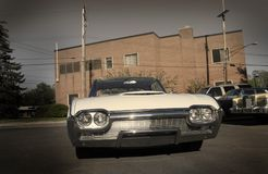 Muscle Car. Wide angle photo of American muscle car Royalty Free Stock Photos