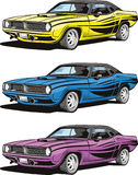 Muscle car. Vector drawing of an old timer sports muscle car Royalty Free Stock Photo