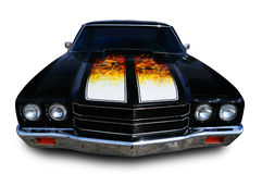Muscle Car. Classic muscle car isolated on white with clipping path excluding shadow Royalty Free Stock Photo