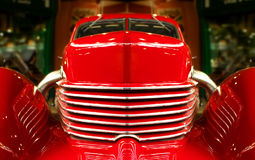 Muscle car. Close-up abstract of a vintage red muscle car Royalty Free Stock Images