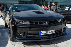 Muscle car The Chevrolet Camaro SS fifth generation, 2015. Royalty Free Stock Photo