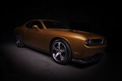 Muscle Car. Copper Dodge Challenger SRT muscle car stock photography
