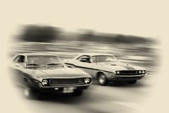 Muscle car cruise Royalty Free Stock Photos