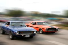 Muscle car cruise Stock Photo