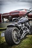 Muscle car, custom bike Royalty Free Stock Photography