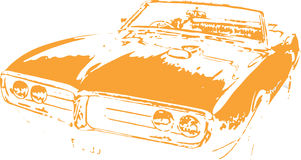 Muscle Car Design Vector Clipart. Muscle Car Design Graphic Vector Art created in Adobe Illustrator in EPS format for use in web and print Royalty Free Stock Photo