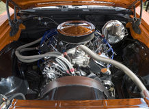 Muscle Car Engine Stock Photo