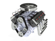 Muscle car engine Royalty Free Stock Photo