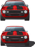Muscle Car Front. Illustration of the front of a muscle car Royalty Free Stock Photos