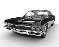 Muscle car - front view closeup. Isolated on white background Stock Photography