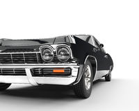 Muscle car - front view extreme closeup stock image