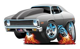 Free Muscle Car Hot Rod Cartoon Isolated Vector Illustration Stock Photo - 154968430