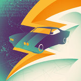 Muscle car illustration. Royalty Free Stock Image