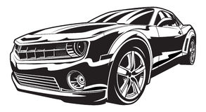 Muscle Car. Illustration of a muscle car Royalty Free Stock Photos