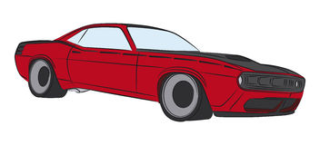 Muscle car ilustration. American muscle car  ilustration Royalty Free Stock Images